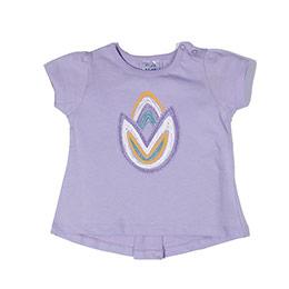 Tukip Kız Çocuk Kısa Kol T-Shirt Leylak (74 cm-7 yaş)