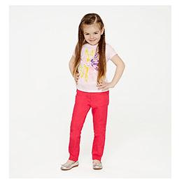 Kız Çocuk Tişört Toz Pembe (74 cm-7 yaş)