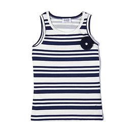 Happy Colors Kolsuz Kız Çocuk T-Shirt Havacı Mavi (7-12 yaş)