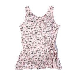 Pop Girls Kolsuz Kız Çocuk T-Shirt Gül (7-12 yaş)