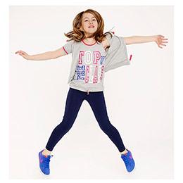 Kız Çocuk Atlet Gri Melanj (7-12 yaş)