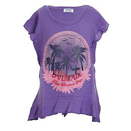 Beach House Kısa Kol Kız Çocuk T-Shirt Menekşe (7-12 yaş)