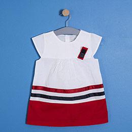 Kız Bebek Kısa Kol Elbise Kırmızı (62 cm-3 yaş)