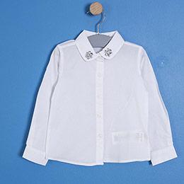 Kız Çocuk Gömlek Beyaz