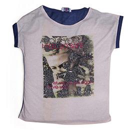 Kız Garson T-Shirt Açık Gül Kurusu