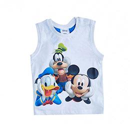 Lisanslı Disney Mickey Mouse Kolsuz Tişört Beyaz (9 ay-7 yaş)