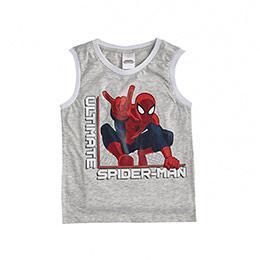 Lisanslı Ultimate Spider -Man Kolsuz Tişört Açık Gri Melanj (2-8 yaş)