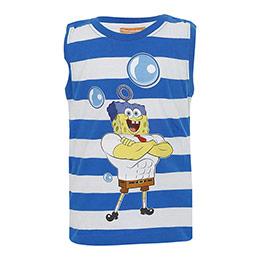 Sponge Bob Kolsuz Tişört Mavi (2-7 yaş)