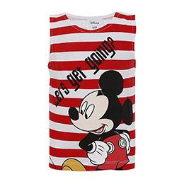 Disney Mickey Mouse Erkek Çocuk Kolsuz Tişört Kırmızı (9 ay-7 yaş)