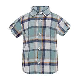 Erkek Çocuk Kısa Kol Gömlek Mint (9 ay-7 yaş)