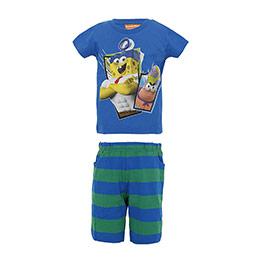 Sponge Bob Erkek Çocuk Pijama Takımı Mavi (2-7 yaş)