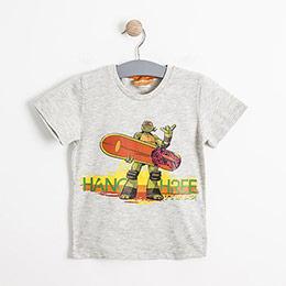 Erkek Çocuk Pijama Takımı Açık Gri Melanj (2-7 yaş)