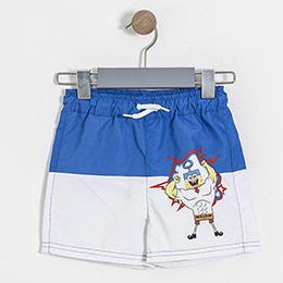 Lisanslı Sponge Bob Şort Mayo Beyaz