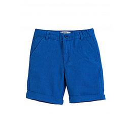 Erkek Çocuk Kot Şort Göl Mavi (74 cm-12 yaş)