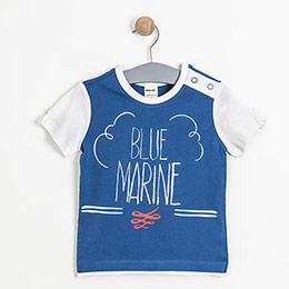 Erkek Çocuk Kısa Kol Tişört Mavi  (2-7 yaş)