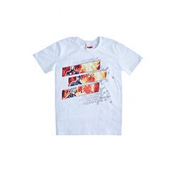 Erkek Çocuk Avengers Kısa Kol Tişört Beyaz (3-8 yaş)