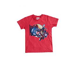 Avengers Kısa Kol Tişört Kırmızı (3-8 yaş)