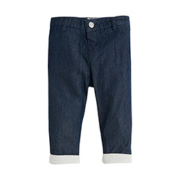 Erkek Bebek Kot Pantolon Mavi (0-3 yaş)