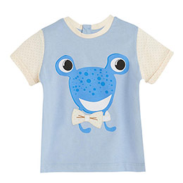 Bayram-2 Kurbağa Desenli Tişört Mavi  (0-3 yaş)