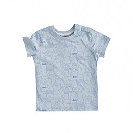 Erkek Bebek Kısa Kol Tişört Mavi (0-2 yaş)