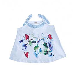 Imitation Bird Kolsuz Bluz Beyaz  (2-7 yaş)