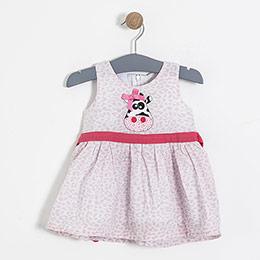 Kız Çocuk Askılı Elbise Baskılı (9 ay-5 yaş)