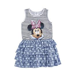Disney Minnie Kolsuz Etekleri Fırfırlı Elbise Beyaz  (9 ay-7 yaş)