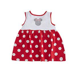 Disney Minnie Kız Çocuk Kolsuz Elbise Kırmızı  (0 ay- 3 yaş)