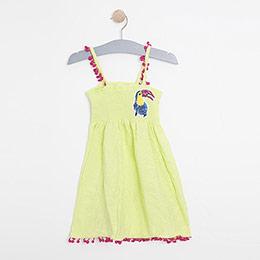 Kız Çocuk Askılı Elbise Fıstık Yeşil ( 2-7 yaş)