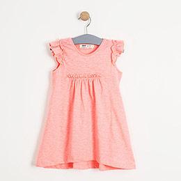 Kız Çocuk Kolsuz  Elbise Neon Pembe (74 cm-7 yaş)