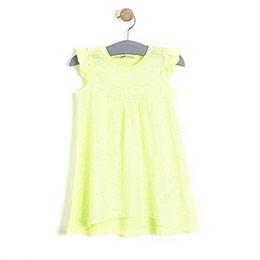 Kız Çocuk Kolsuz  Elbise Neon Sarı (74 cm-7 yaş)