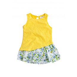Kız Çocuk Kolsuz Elbise Sarı (2-7 yaş)