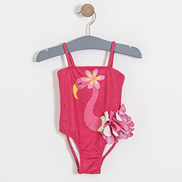 Flamingo Askılı Mayo Koyu Pembe (2-7 yaş)