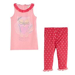 Kolsuz Kız Çocuk Pijama Takımı Pembe (2-7 yaş)