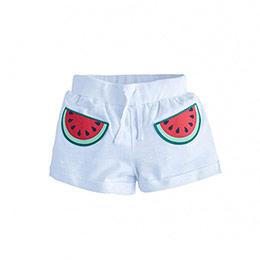 Watermelon Belden Bağlamalı Şort Beyaz (2-7 yaş)