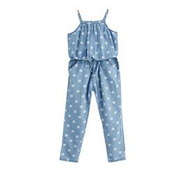 Kız Çocuk Askılı Tulum Mavi (9 ay-7 yaş)