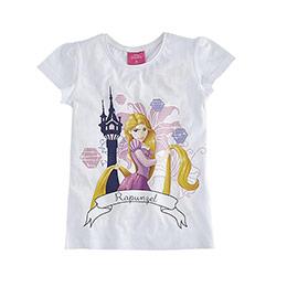 Lisanslı Disney Princess Kısa Kol Tişört Beyaz  (2-8 yaş)