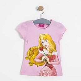 Lisanslı Disney Princess Kısa Kol Tişört Pembe  (2-8 yaş)