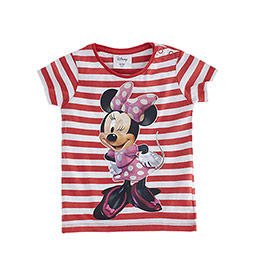 Disney Minnie Mouse Kısa Kol Tişört Kırmızı (9 ay- 7 yaş)