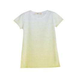 Kız Çocuk Kısa Kol Tişört Açık Sarı (9 ay-12 yaş)