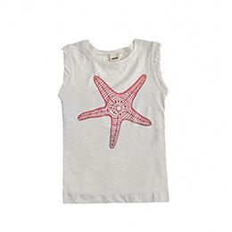 Star Fish Kolsuz Tişört Beyaz (2-7 yaş)