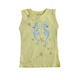 Star Fish Kolsuz Tişört Limon (2-7 yaş)