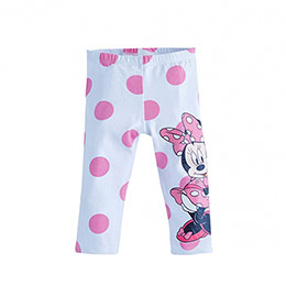 Disney Minnie Mouse Puantiyeli Tayt Beyaz  (2-7 yaş)