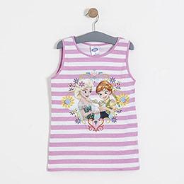 Lisanslı Disney Frozen Kolsuz Tişört Pembe  (8-10 yaş)