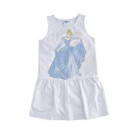 Disney Frozen Kız Çocuk Kolsuz Elbise Beyaz  (8-10 yaş)
