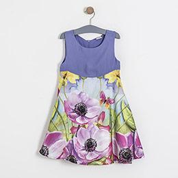 Kız Çocuk Kolsuz Elbise Lila (8-12 yaş)