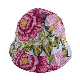 Floral Baby Kolsuz Elbise Külot ve Şapka Set Beyaz  (0-24 ay)