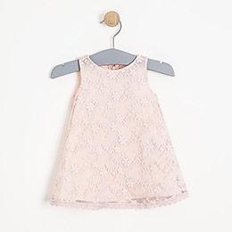 Bonbon Chic Kısa Kol Elbise ve Külot Set Beyaz  (0-2 yaş)