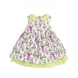 Rabbits Kız Bebek Elbise ve Külot Set Ekru (0-3 yaş)