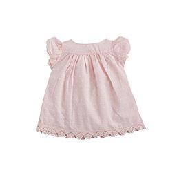 Bonbon Chic Kız Bebek Güpürlü Kısa Kol Tişört Pembe  (0-3 yaş)